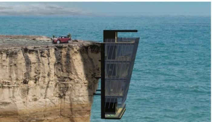Cea mai PERICULOASĂ locuinţă! Este suspendată de o stâncă, deasupra oceanului