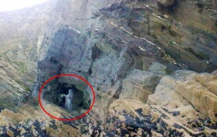 Foto! Fecioara Maria s-a arătat pe o stâncă. Imaginea pare imposibil de explicat