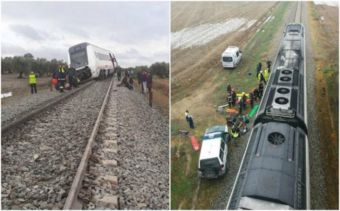 Dezastru feroviar în sudul Spaniei! Sunt zeci de victime, după ce un tren a deraiat între Malaga şi Sevilla (Imagini dramatice)