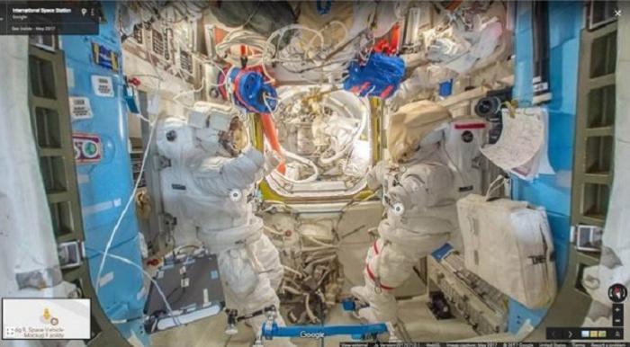 Staţia Spaţială Internaţională poate fi explorată de orice pământean! Imagini unice prin Google Street View