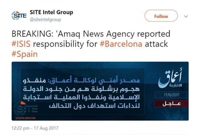 """ISIS revendică atentatul din Barcelona! MESAJUL ŞOCANT transmis de jihadişti: """"Către toţi spaniolii: a venit timpul să ..."""""""