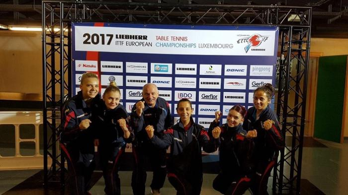 Echipa feminină la tenis de masă s-a calificat în finala Campionatului European