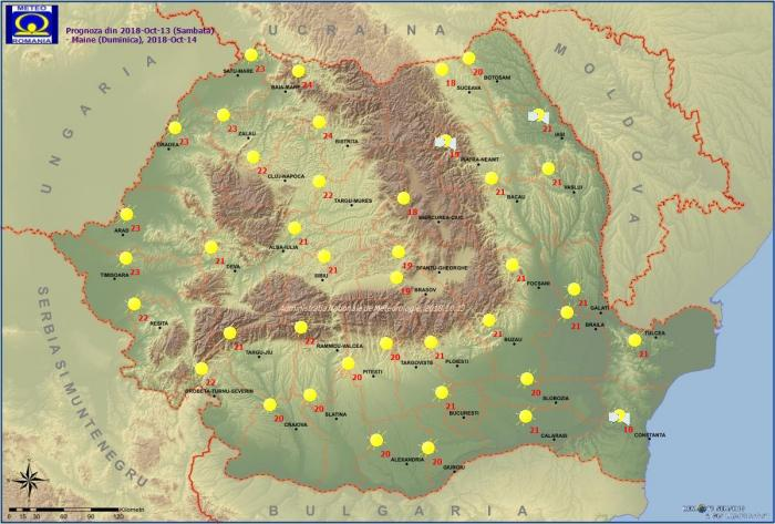 Vremea 14 octombrie. Prognoza meteo anunță temperaturi surprinzătoare