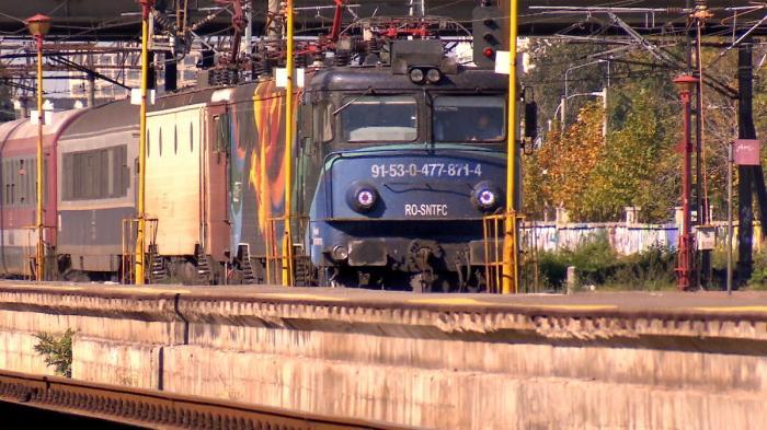 Tren de călători pe magistrala București Constanța