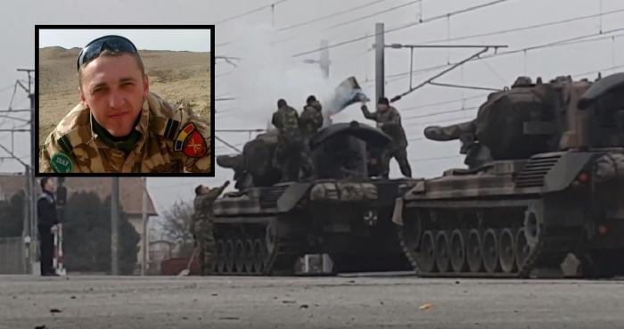 Vineri dimineaţă, un militar a murit electrocutat după ce s-a urcat pe unul dintre tancurile care vor participa la parada de 1 Decembrie