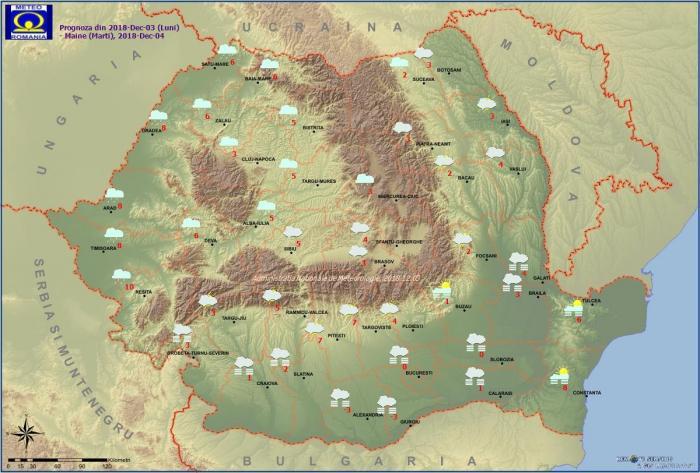 Vremea 4 decembrie. Prognoza meteo anunţă polei şi ploi în jumătate de ţară