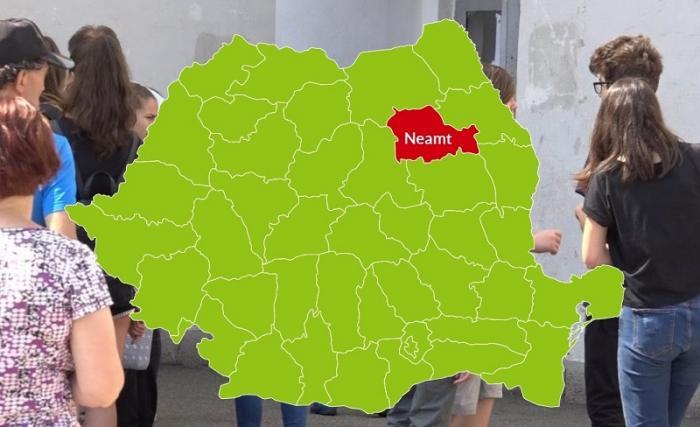 Harta judeţului Neamț cu rezultatele la Evaluarea Naţională 2018