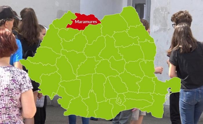 Harta judeţului Maramureș cu rezultatele la Evaluarea Naţională 2018