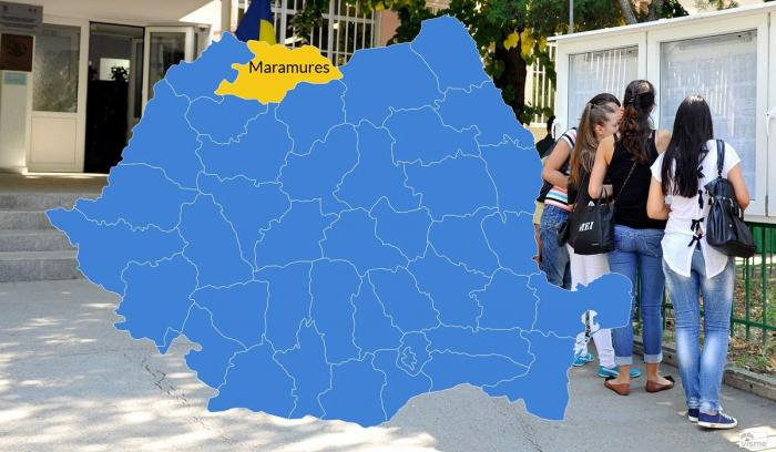 Harta cu rezultatele la Bacalaureat 2018 în Maramureș