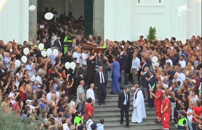Zi de doliu naţional în Italia. Controverse privind funeraliile de stat pentru victimele dezastrului de la Genova. Mai multe familii au refuzat să participe