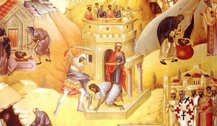 Sarbatoare 29 august. Taierea Capului Sfantului Ioan Botezatorul