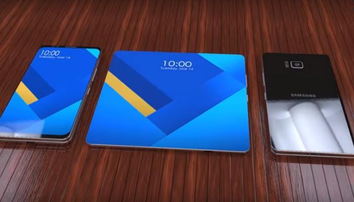 Samsung Galaxy 10, un smartphone pliabil