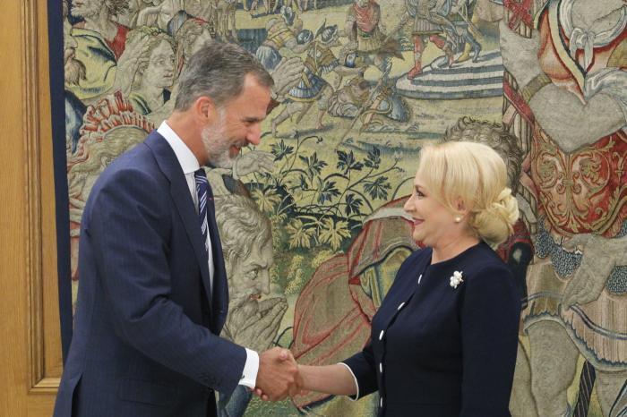 Viorica Dancila s-a intalnit cu regele Spaniei