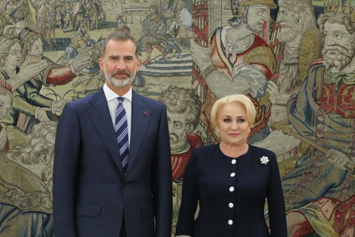 Premierul Viorica Dăncilă, primită la Palatul La Zarzuela de Regele Felipe al Spaniei