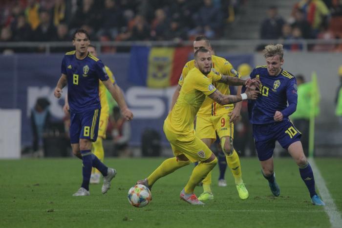 România este condusă la pauză de Suedia