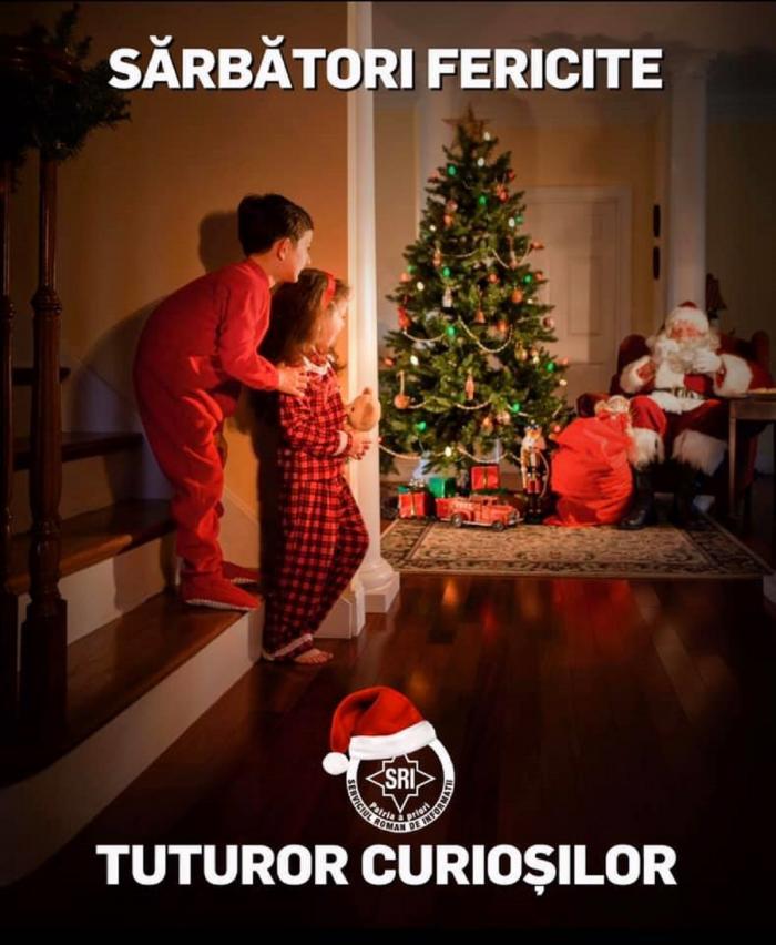 Mesajul transmis de SRI, cu ocazia Crăciunului
