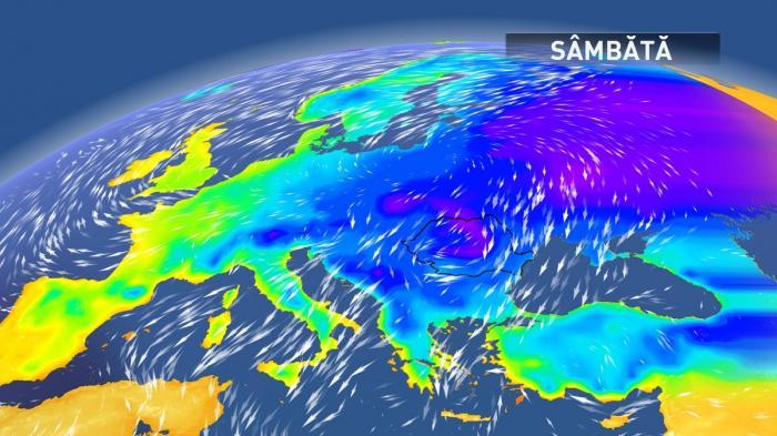 Iarna se întoarce în forţă, în România. Revin ninsorile şi viscolul, temperaturile scad dramatic, cu până la 20 de grade Celsius