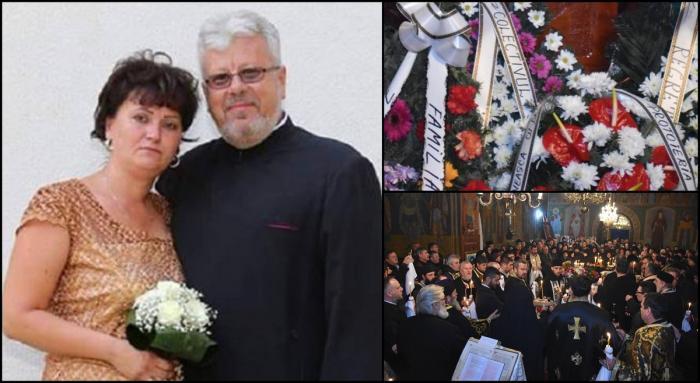 Preotul Filimon şi soţia lui, conduşi pe ultimul drum. Au murit într-un teribil accident, când se întorceau de la Ierusalim