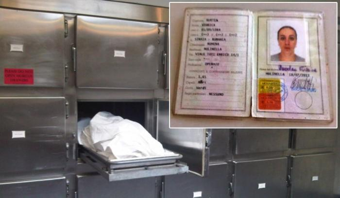 Trupul româncei care a murit în Italia a fost abandonat la morgă