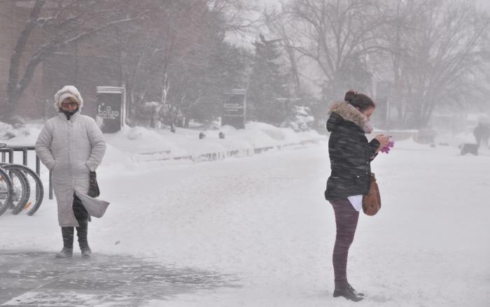 Vreme de iarnă în Bucureşti