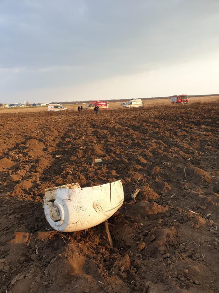 Primele imagini de la locul prăbuşirii avionului, la Tuzla