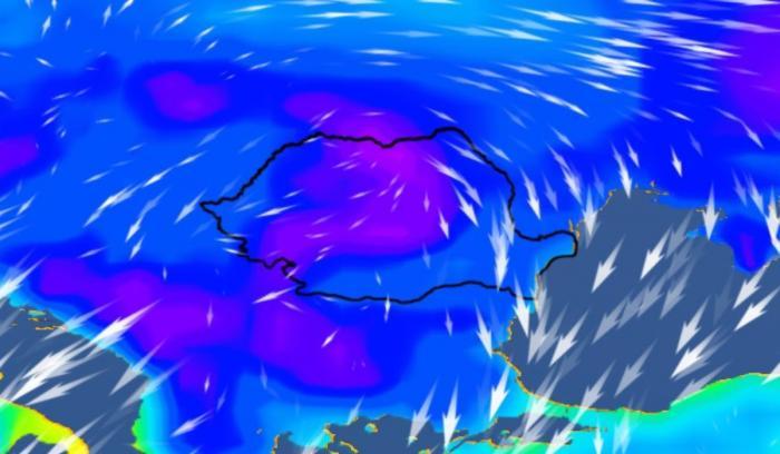 Cod galben de vreme rece, începând cu ora 16.00, în toată ţara