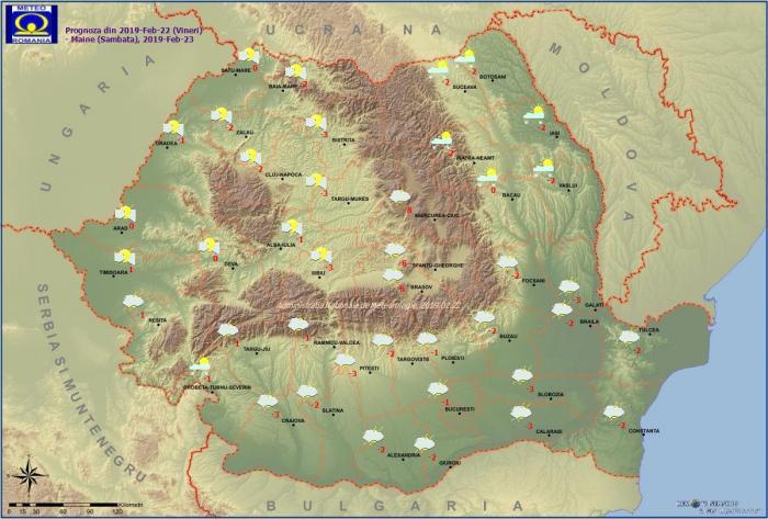 Vremea pe 23 februarie. Val de aer polar până luni peste România