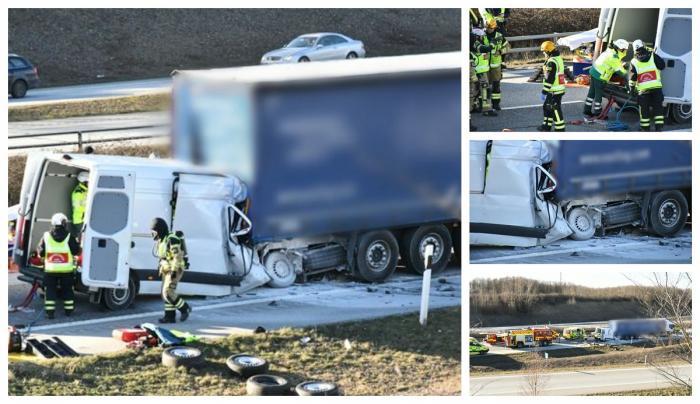 Şofer român mort în Suedia, într-un impact înfiorător cu un camion