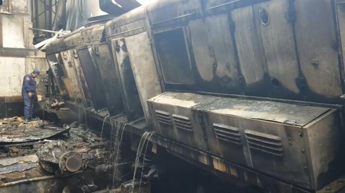 Incendiu la un tren din Cairo