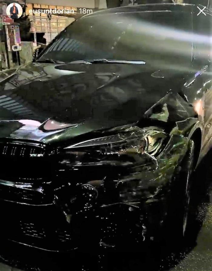 Primele imagini de la accidentul lui Dorian Popa, din Bucureşti (Video)