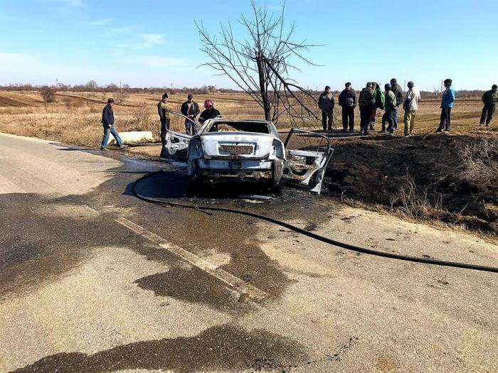 Accident la Sfinţeşti, în Teleorman. Doi morţi,  într-o maşină care s-a aprins pe şosea (video)