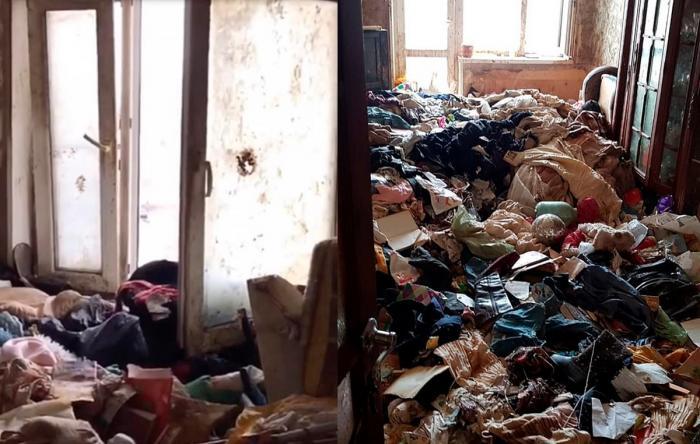 Casa era plină de gunoaie, mirosul era insuportabil, iar gândacii mişunau prin toate colţurile