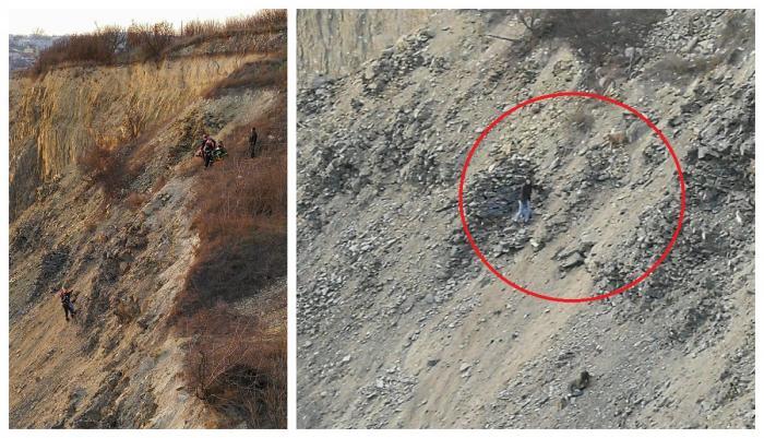 Două fete din Tulcea şi căţelul lor au căzut 100 de metri, în cariera de piatră Bididia