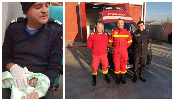 Copil venit pe lume în autospeciala pompierilor
