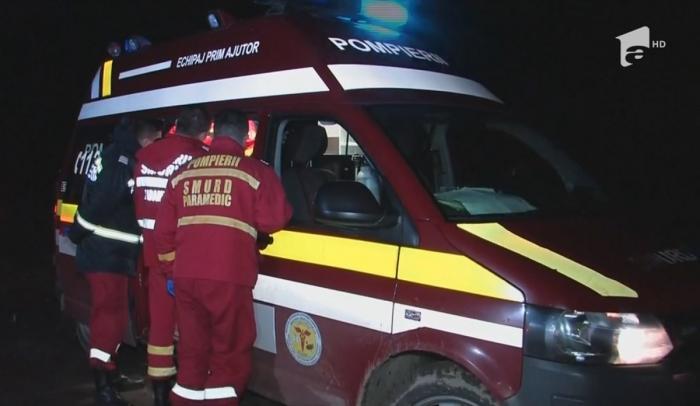 Pompierii SMURD intervin la un incendiu