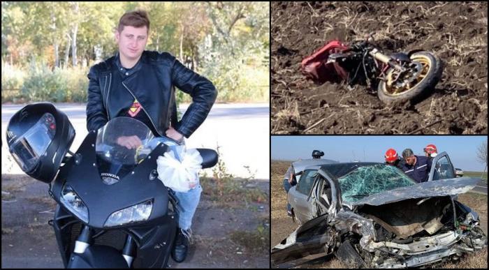 Motocicletă ruptă în două, în Buzău. Mihai a intrat inexplicabil pe contrasens (Video)