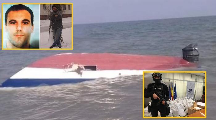 Șalupa cu droguri răsturnată la Sulina