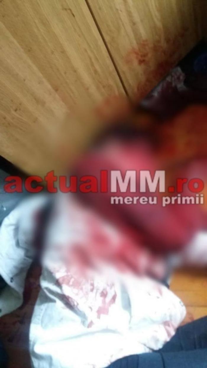 Imagini teribile din apartamentul în care o băimăreancă şi-a ucis soţul cu un ciocan