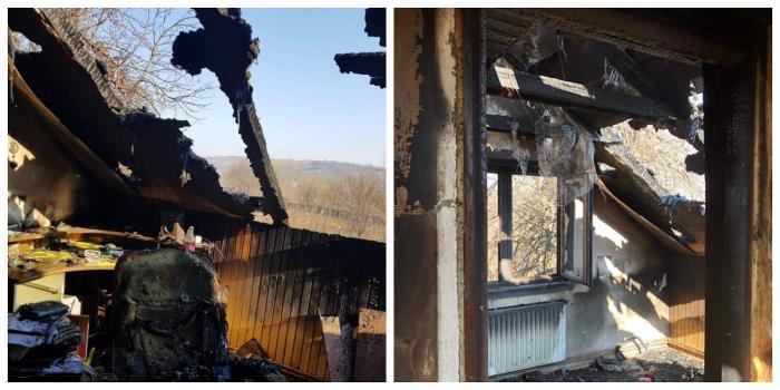 Mama lui Bogdan a rămas fără casa din Oneşti după un incendiu devastator