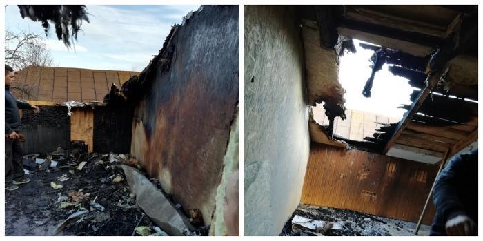 O femeie din Oneşti a rămas fără casă, chiar de ziua ei, după un incendiu puternic