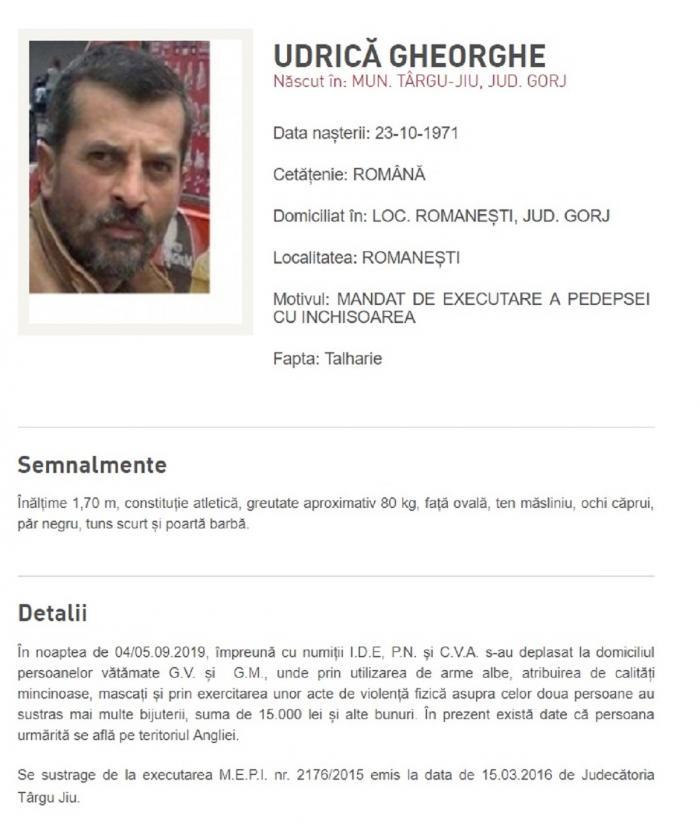 Ei sunt cei mai căutați infractori din România