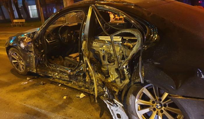 Accident grav după o cursă nebună pe o stradă din Timișoara