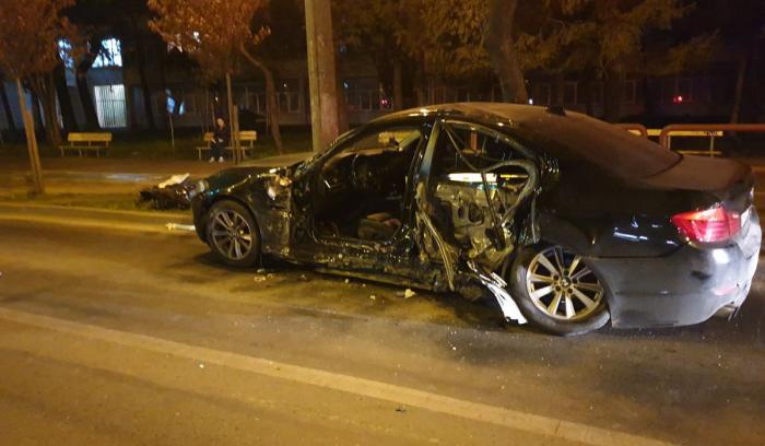 Accident grav cu un BMW pe o stradă din Timișoara