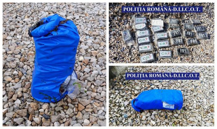 Kilograme de droguri inscripţionate 'CR7', găsite pe plaja Cap Aurora