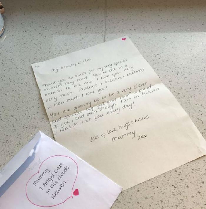 """""""Pentru mami, care este în Rai"""". Scrisoarea unei fetițe către mama sa, moartă de cancer"""