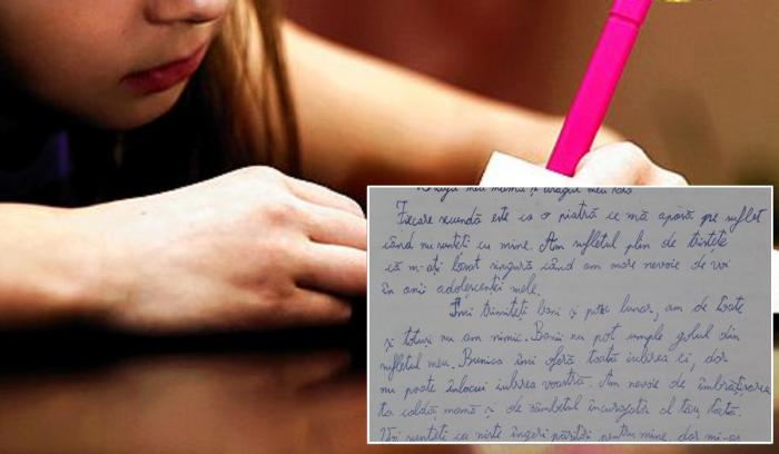 Fetiţă din Olt, scrisoare emoţionantă pentru părinţii plecaţi în străinătate