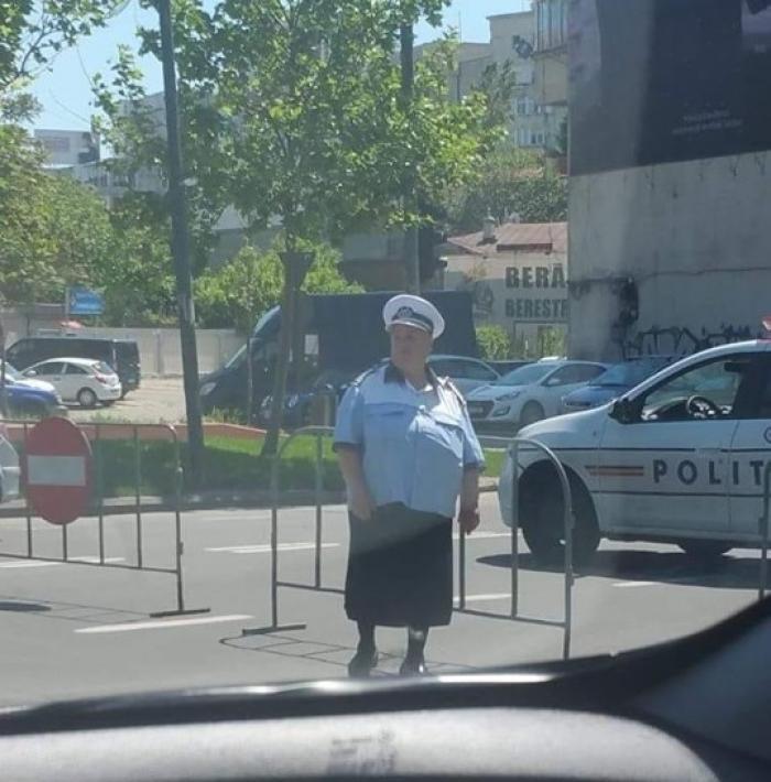 Poliția doamna Geta a fost surprinsă, în această săptămână, în București