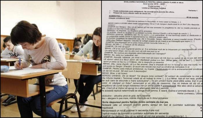 Subiecte Evaluare Naţională 2019 la limba română. Ce au avut de rezolvat elevii la proba scrisă