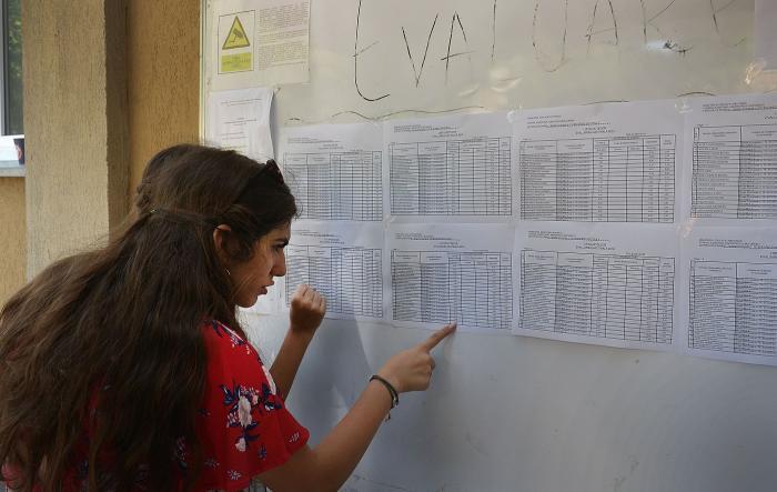 Elevi citesc rezultatele la examenul de Evaluare Națională