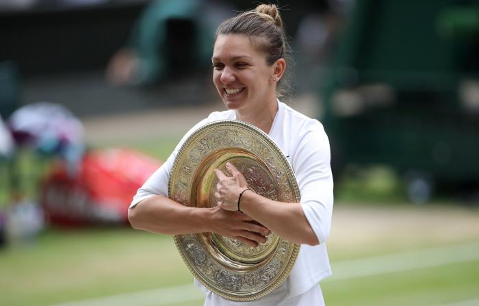 Simona Halep la festivitatea de premiere de la Wimbledon
